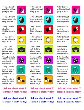 Standards for Mathematical Practice Stickers