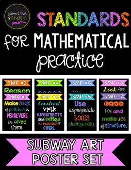 Standards for Mathematical Practice Subway Art Poster Set