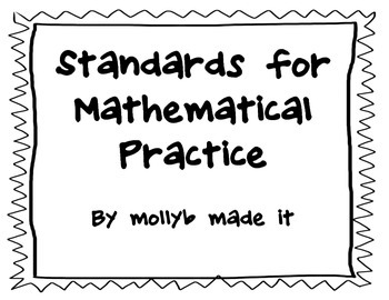 Standards for Mathematical Practice (black and white)