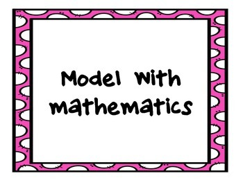 Standards for Mathematical Practice (pink boarder)