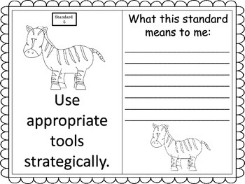 Standards for Mathematical Practice--posters and anchor charts--animal theme