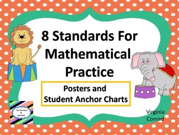 Standards for Mathematical Practice--posters and anchor charts--circus theme