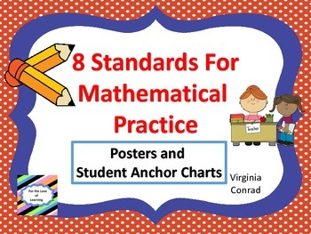 Standards for Mathematical Practice--posters and anchor charts--school theme