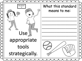 Standards for Mathematical Practice--posters and anchor charts--sports theme