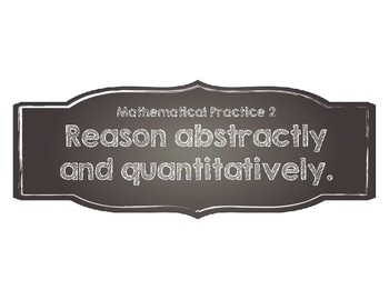 Standards for Mathematical Practices-Chalkboard Style!