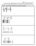 Standards for Mathematical Thinking MP.3  5th Grade NF.1