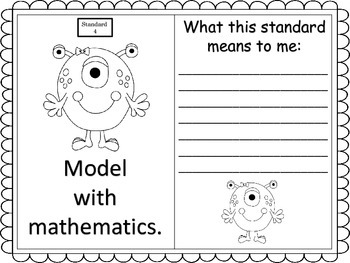 Standards for Mathemtical Practice--posters and anchor charts--monster theme