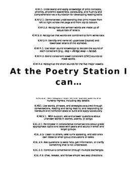 Standards for Poetry Station