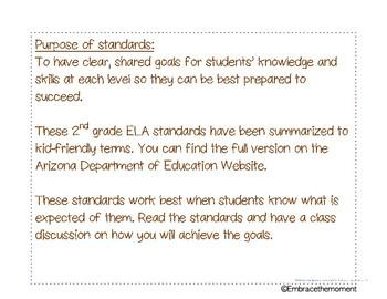ELA Arizona Standards in Kids' Terms