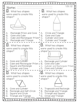 Standards in a Snap! Measurement, Data and Geometry for First Grade