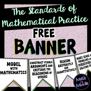Standards of Mathematical Practice FREE Banner - Math Posters