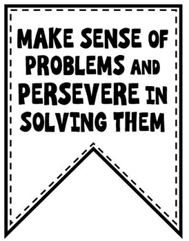 FREE Math Posters - Standards of Mathematical Practice Banner