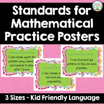 Standards for Mathematical Practice - Multi - Kid Friendly Language