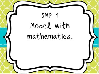 Standards of Mathematical Practice Posters