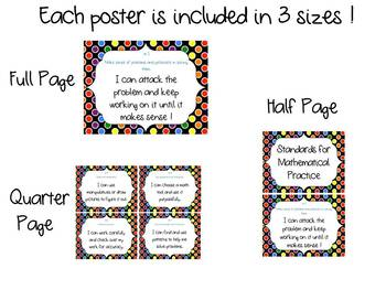 Standards for Mathematical Practice Posters - Kid Friendly