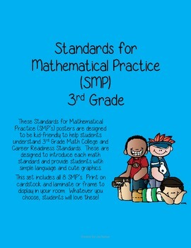 Standards of Mathematical Practice (SMP) Posters for 3rd Grade