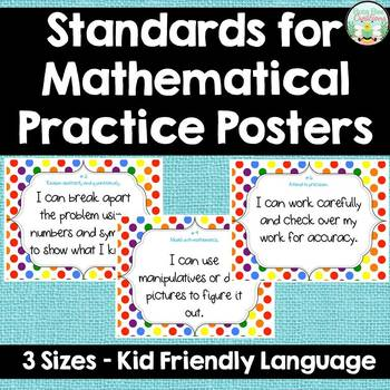 Standards for Mathematical Practice - White - Kid Friendly Language