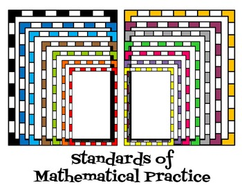 Standards of Mathematical Practice with Colorful Borders