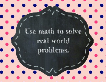Standards of Mathematical Practices in Kid Friendly Language Traditional Design