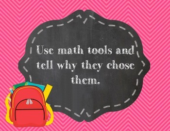 Standards of Mathematical Practices in Kid Friendly Language Chevron Owl Design