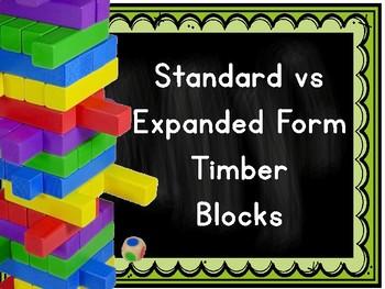 Standarrd vs Expanded Form (withinin 1 million) Timber Blocks