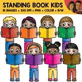 Standing Book Kids Clipart