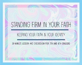 Standing Firm In Your Faith - Junior High Bible Study