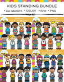 Standing Kids Clip Art - The Bundle