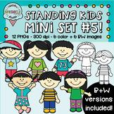 Standing Kids Clipart Mini-Set 5  {kids standing clipart}