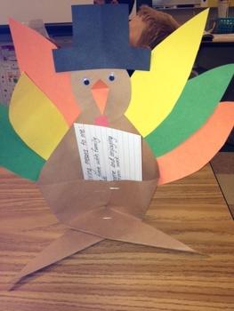 Standing Turkey Talk Writing