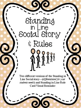 Standing in Line- Social Story & Rules for Special Education and Autism