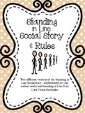 Standing in Line- Social Story & Rules for Special Educati