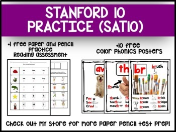 Stanford 10 Practice Kindergarten for Reading and Math