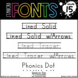 Stanford Fonts • Font Volume 15 • Handwriting and Phonics
