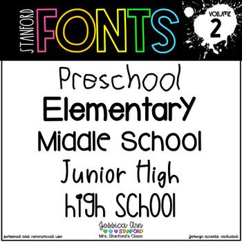 High School Fonts