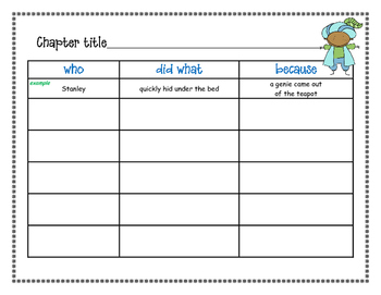 Flat Stanley Series Activity Packet (Flat Stanley, Invisible Stanley, etc.)