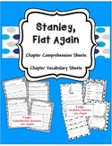 Stanley, Flat Again~ Comprehension and Vocabulary Sheets
