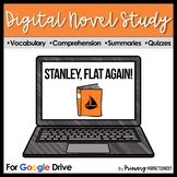 Stanley, Flat Again! DIGITAL Novel Study and Tests Google Classrooms - NO PREP!