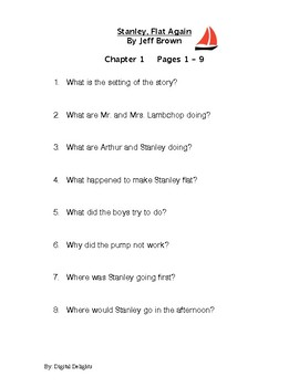 Stanley, Flat Again! Reading Comprehension Questions