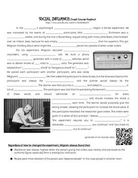 Stanley Milgram Experiment Lesson Plan