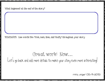 Story Writing Graphic Organizer