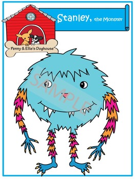 Stanley, the Monster *Penny & Ellie's Doghouse Clipart*