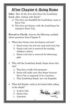 Stanley's Christmas Adventure (Jeff Brown) Novel Study / Reading Comprehension