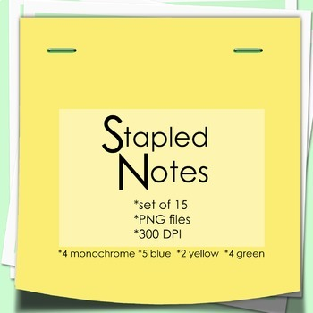 Paper Clip Art : Stapled Notes