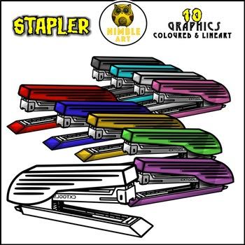Stapler Clipart (Stationeries)