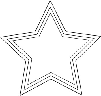 Star Clipart perfect for making coloring page