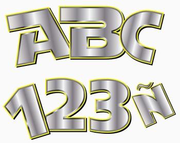 "Star Alphabet - 84 pcs  - 300 DPI - PDF & PNGs - 4"" High"