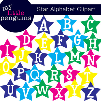 Star Alphabet Clipart Letter Poster