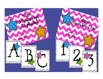 Star Alphabet and Number Line