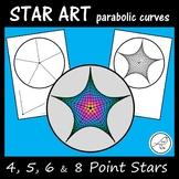 Star Art - using parabolic curves